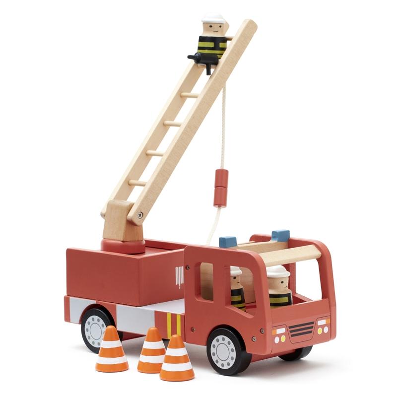 Feuerwehrauto aus Holz rot 30cm ab 3 Jahren