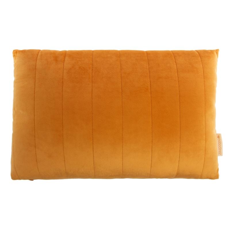 Bio Kissen aus Samt senfgelb ca. 30x45cm