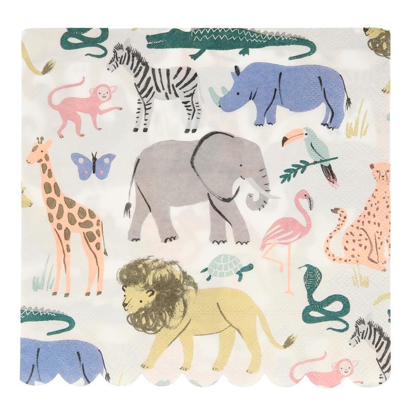 Party Papierservietten 'Safari' 20 Stk.