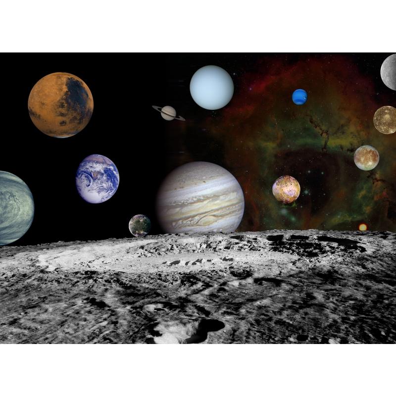 Fototapete 'Weltraum' schwarz 360x265cm