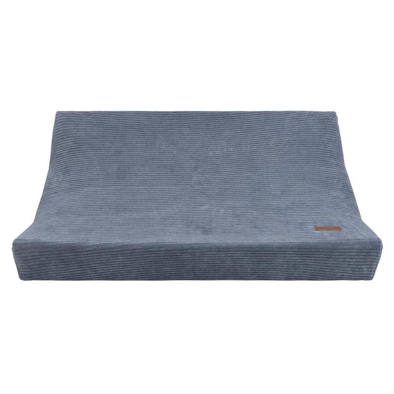 Wickelauflagenbezug 'Sense' Samt blau 45x70cm