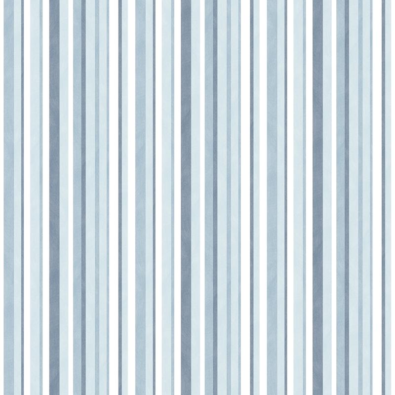 Vliestapete 'Streifen' hellblau/dunkelblau