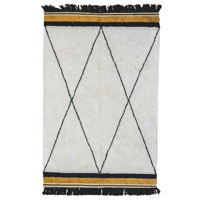 Teppich 'Etnic' creme/senf 120x170cm