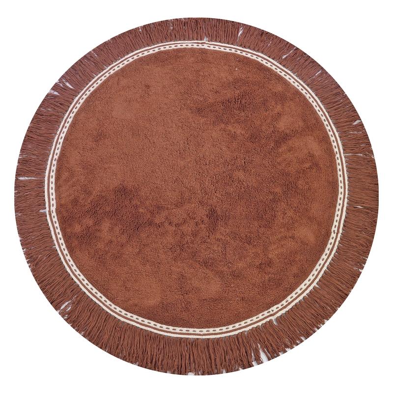 Teppich 'Anna' rund rost ca. 110cm