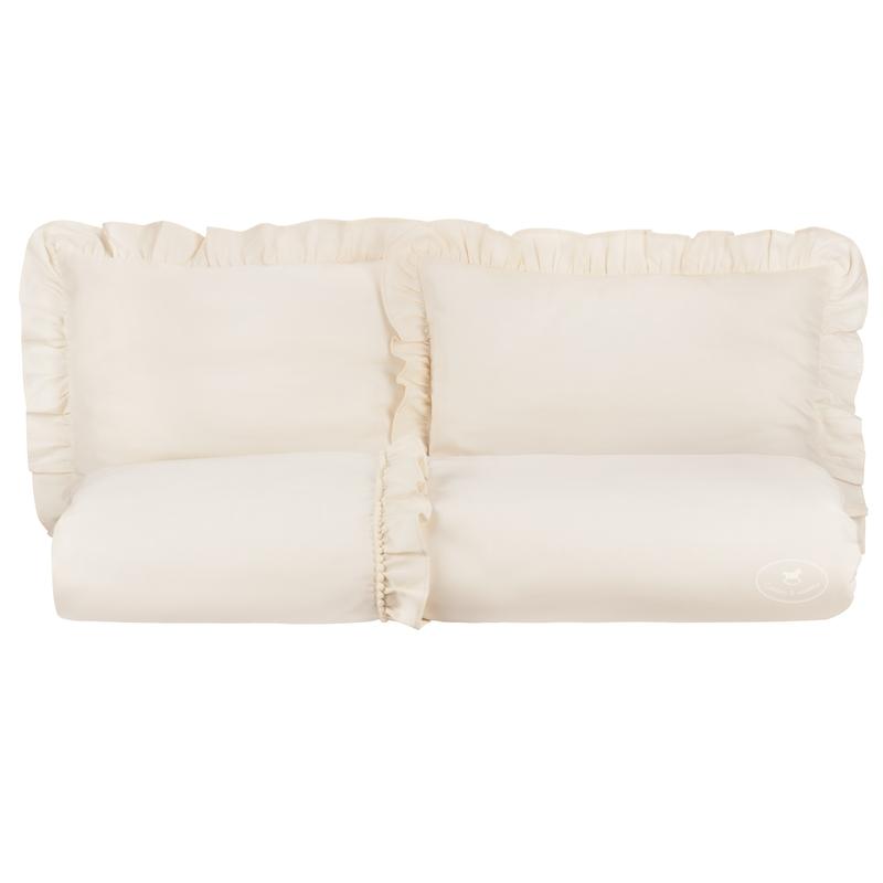Kinderbettwäsche mit Rüschen 'Boho' creme 140x200cm
