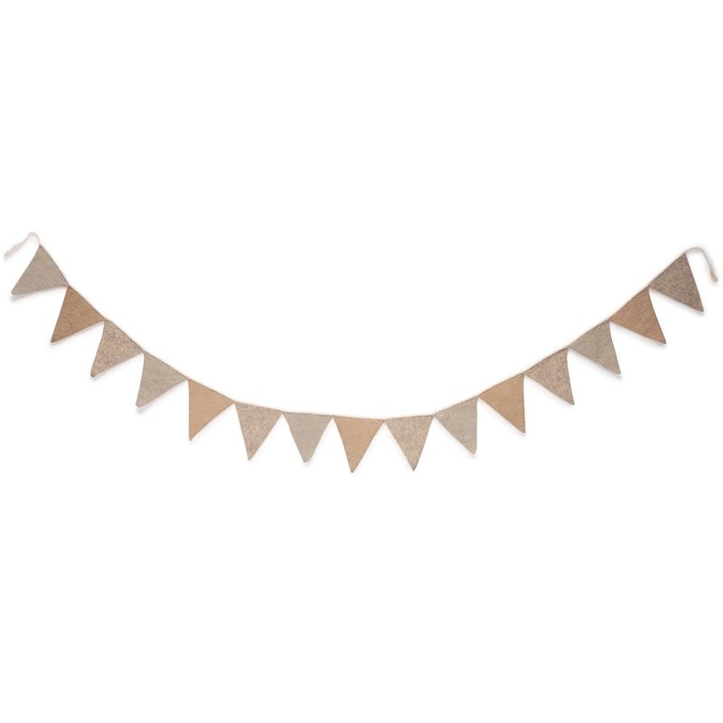 Filz-Wimpelkette 'Valentijn' beige 240cm