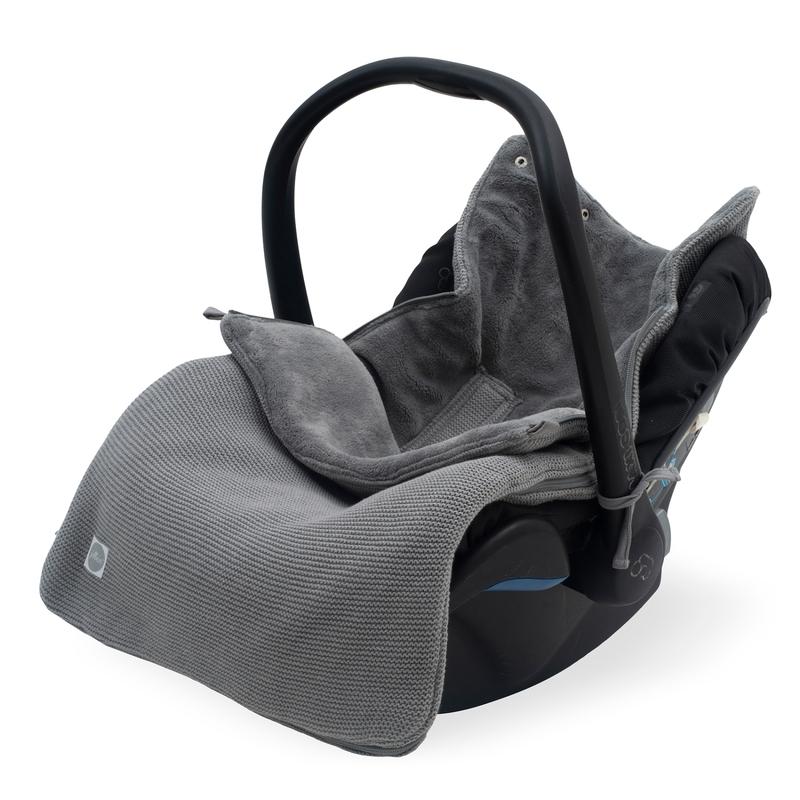Fußsack 'Basic Knit' Strick/Plüsch grau