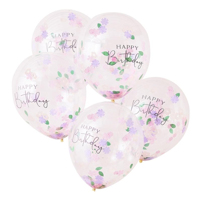 Konfetti-Luftballons 'Let´s Partea' 5 St.
