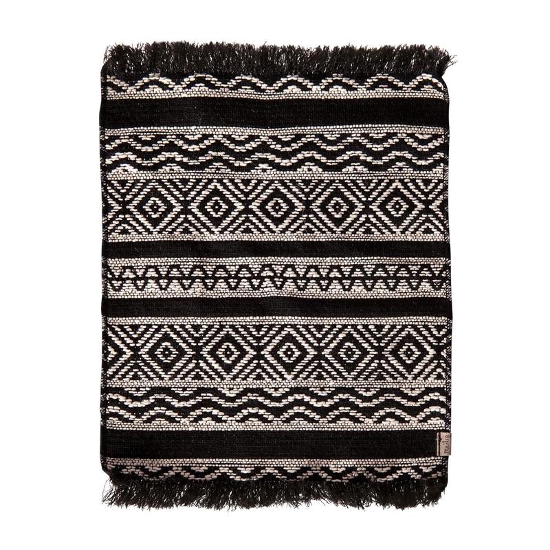 Teppich für Puppenhaus schwarz 24cm (Mini)