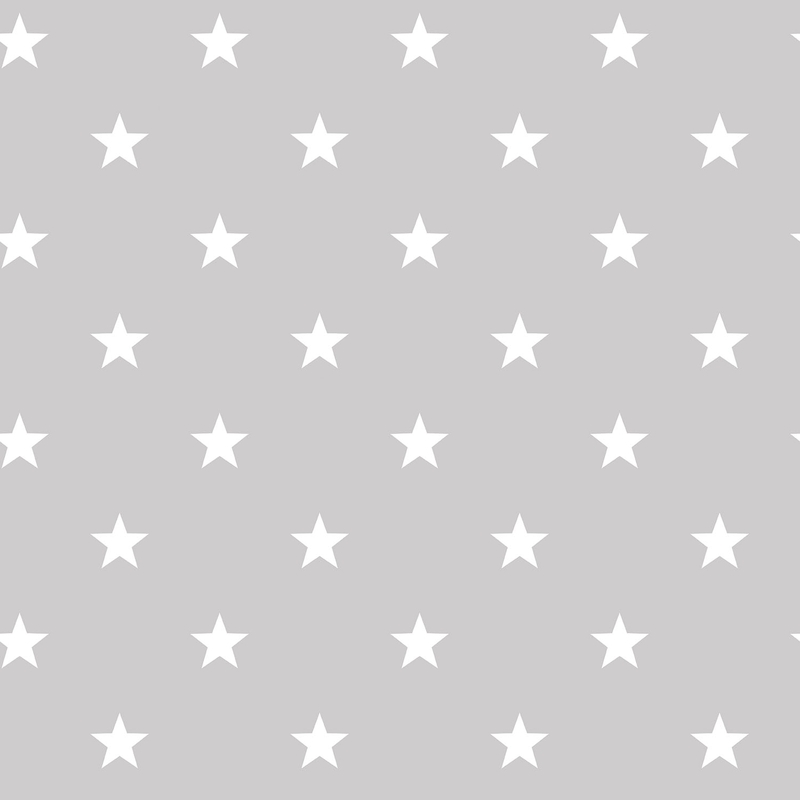 Vliestapete 'Sterne' warmgrau/weiß