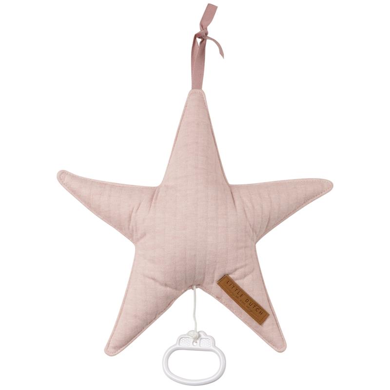 Spieluhr Stern 'Pure' Jersey altrosa ca. 27cm