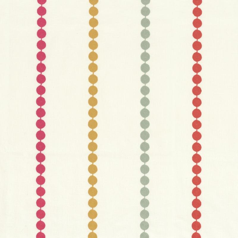 Stoff mit Stickerei 'Rose & Nino' Punkte pink