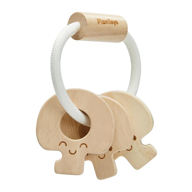 Babygreifling Schlüssel aus Naturholz