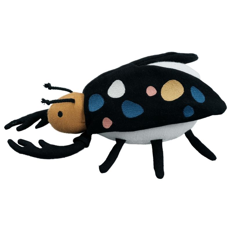 Babyrassel 'Käfer' schwarz ca. 22cm