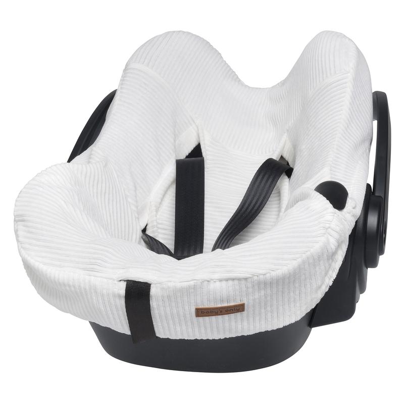 Sitzbezug 'Sense' wollweiß für Babyschale