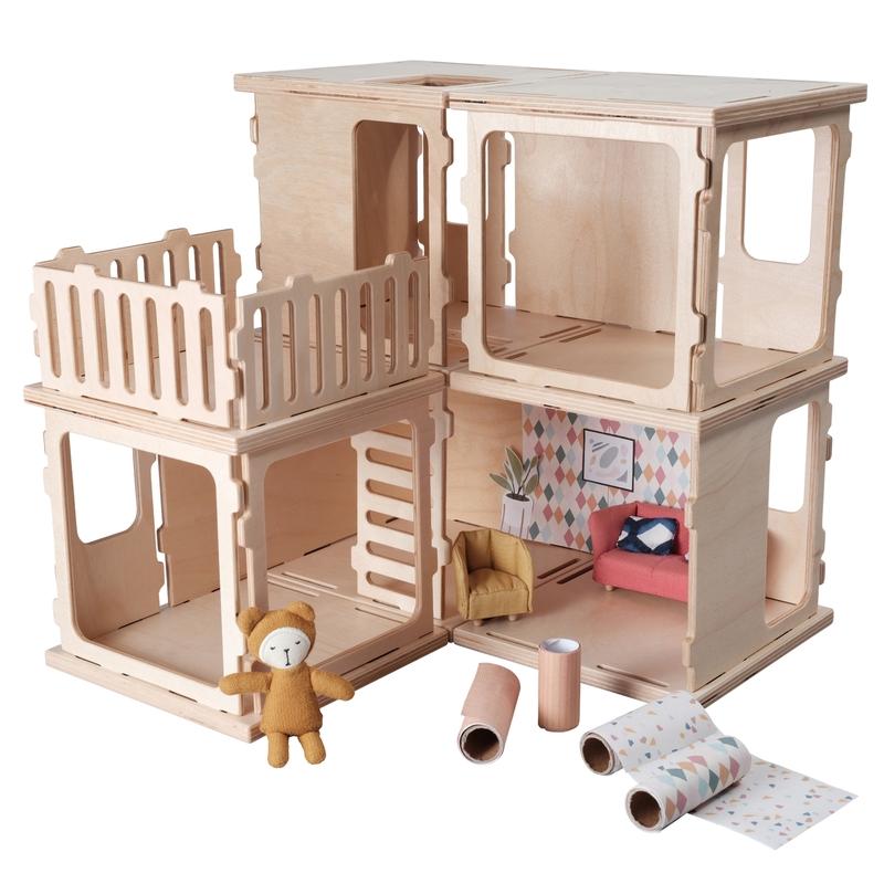 Basic-Bauset für Puppenhaus ab 3 Jahren