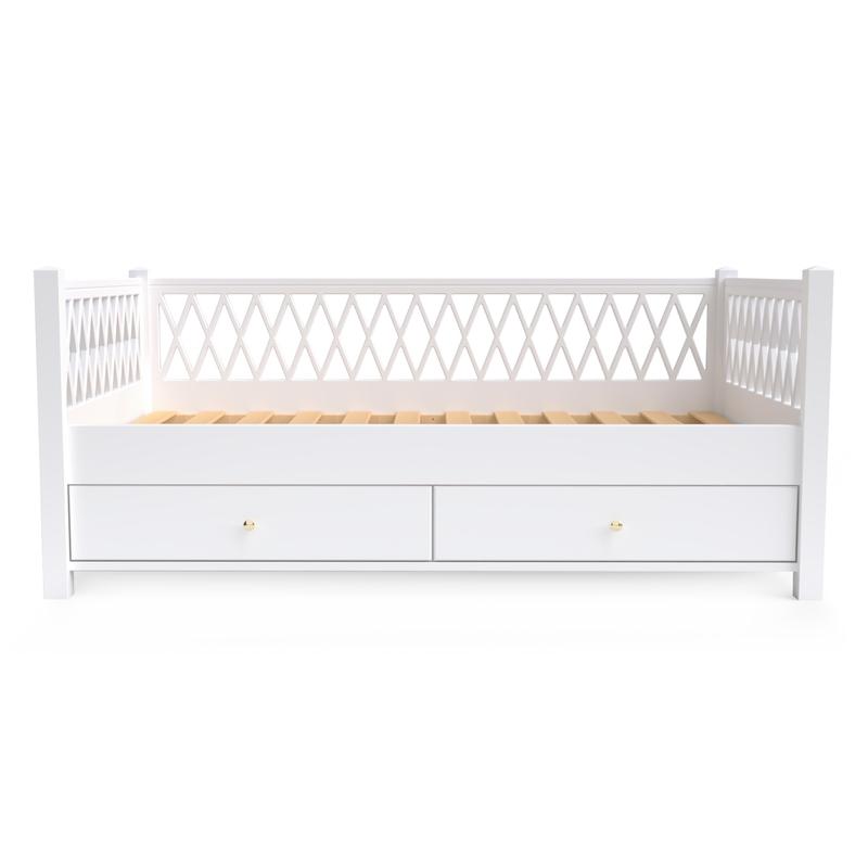 Juniorbettsofa 'Harlequin' weiß 90x160cm