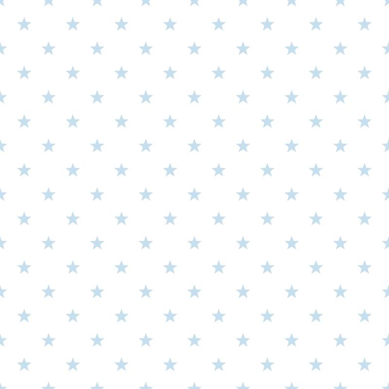 Vliestapete 'Sterne' hellblau/weiß