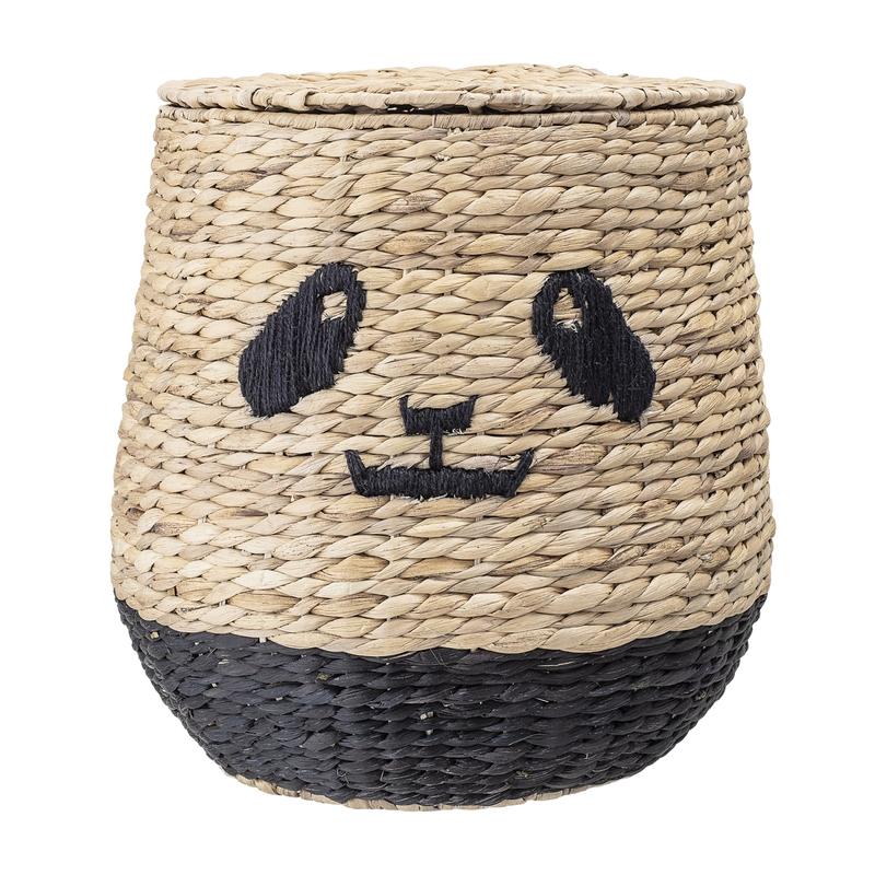 Korb mit Deckel 'Panda' Wasserhyazinthe