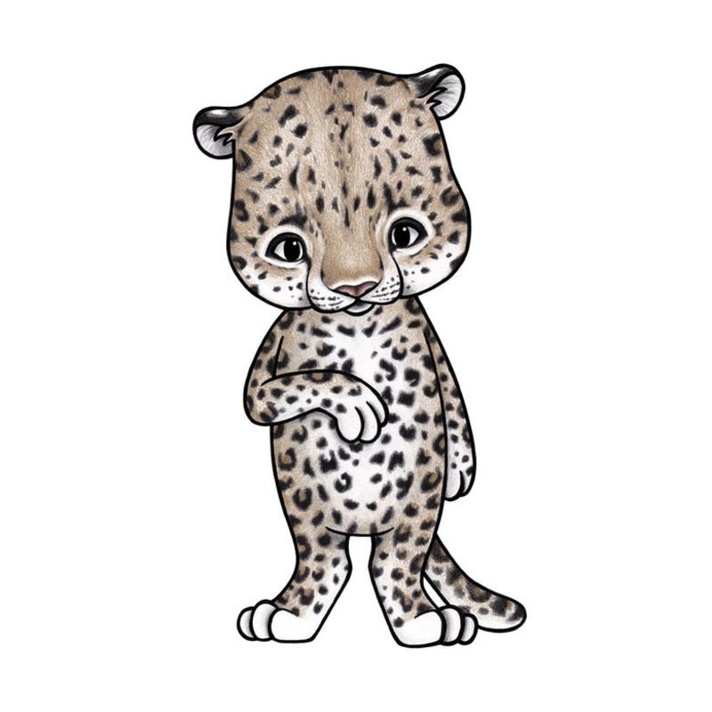 Tier-Wandsticker 'Leopard' handgezeichnet