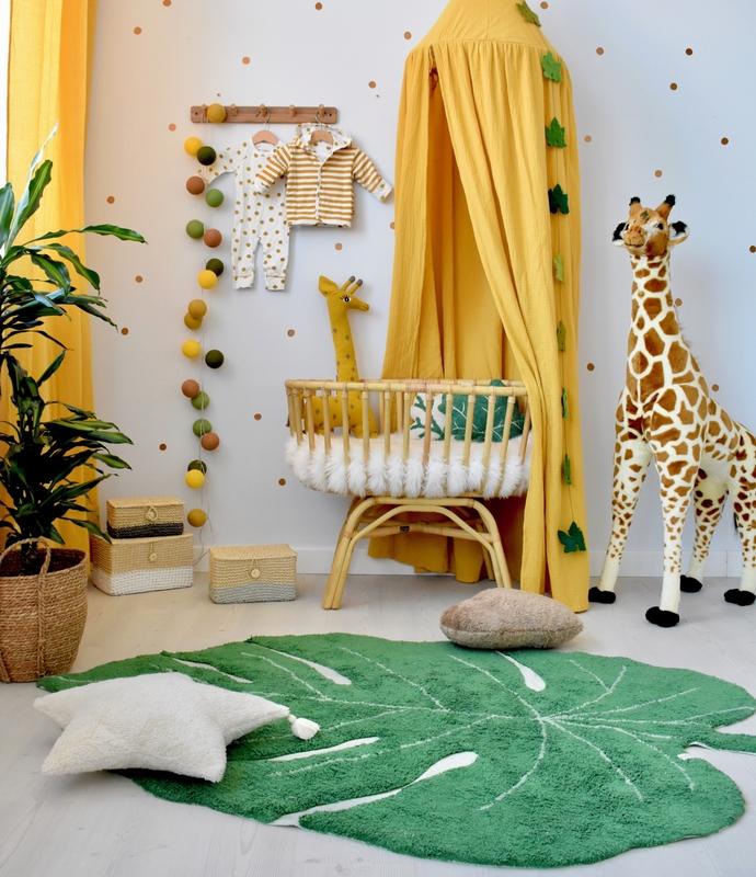 Babyzimmer in Gelb/Grün im Safari-Look