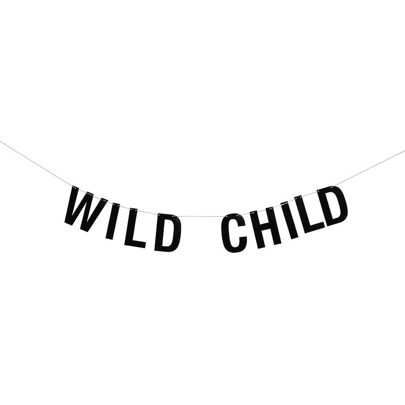 Girlande 'Wild child' schwarz 156cm