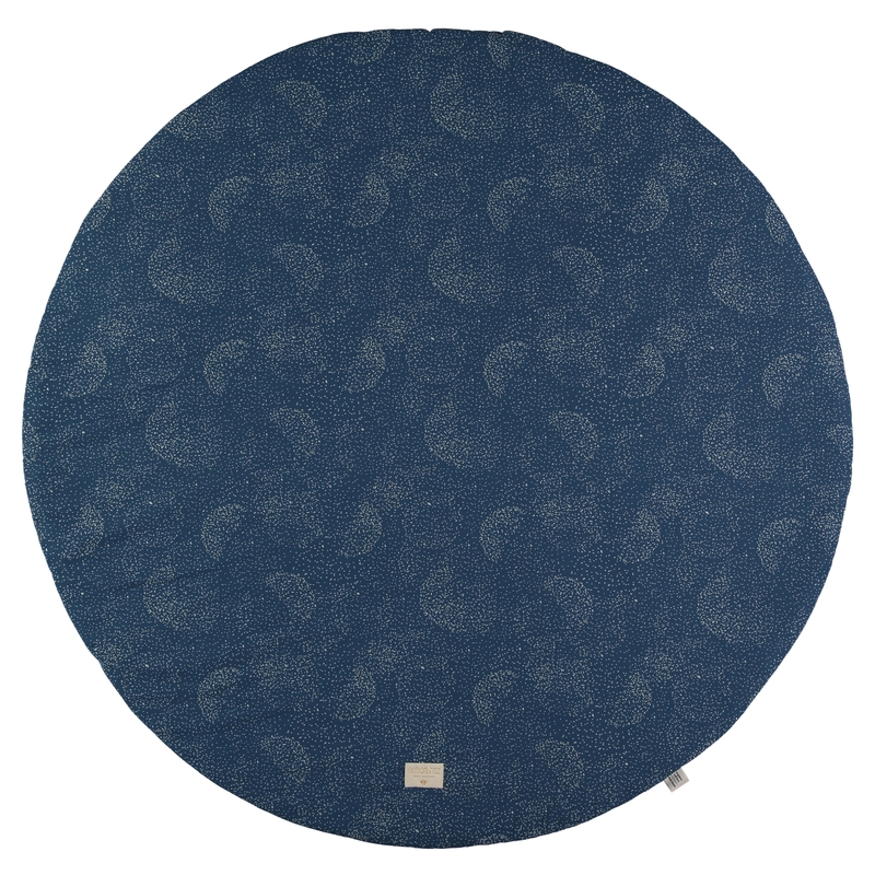 Spielmatte 'Gold Bubble' dunkelblau rund 105cm