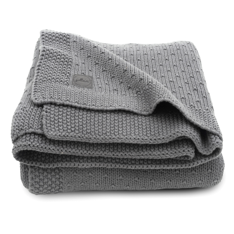 Strickdecke 'Bliss Knit' grau