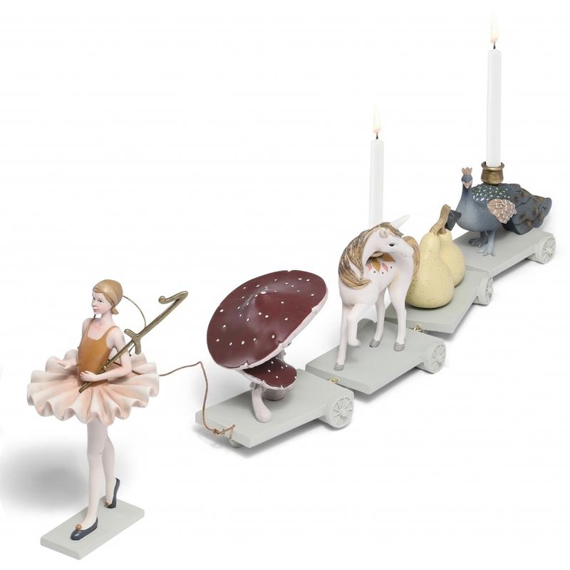 Geburtstagszug aus Stein 'Ballerina' ca. 69cm