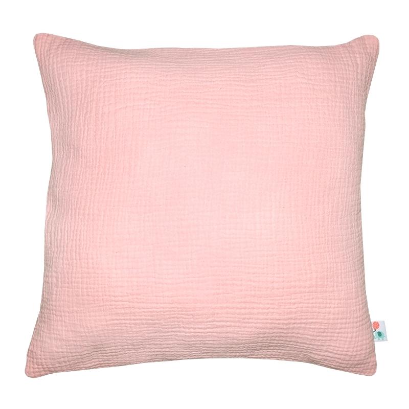 Kissenbezug Musselin puderrosa handmade