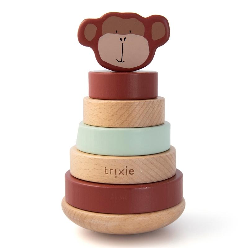 Stapelturm 'Affe' Holz braun ab 1 Jahr