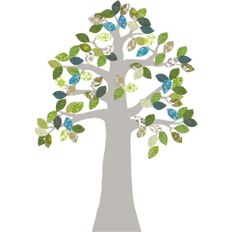 Tapetenbaum silber/blau/grün 230cm