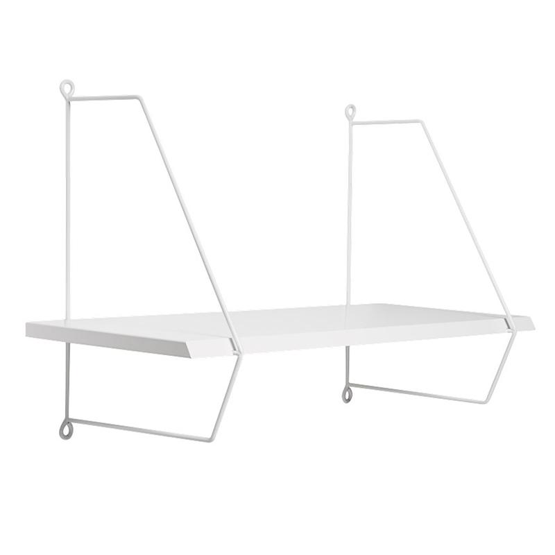 Wandregal Holz/Metall weiß 60cm