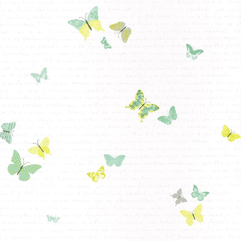 Tapete Schmetterlinge grün 'Pretty Lili'