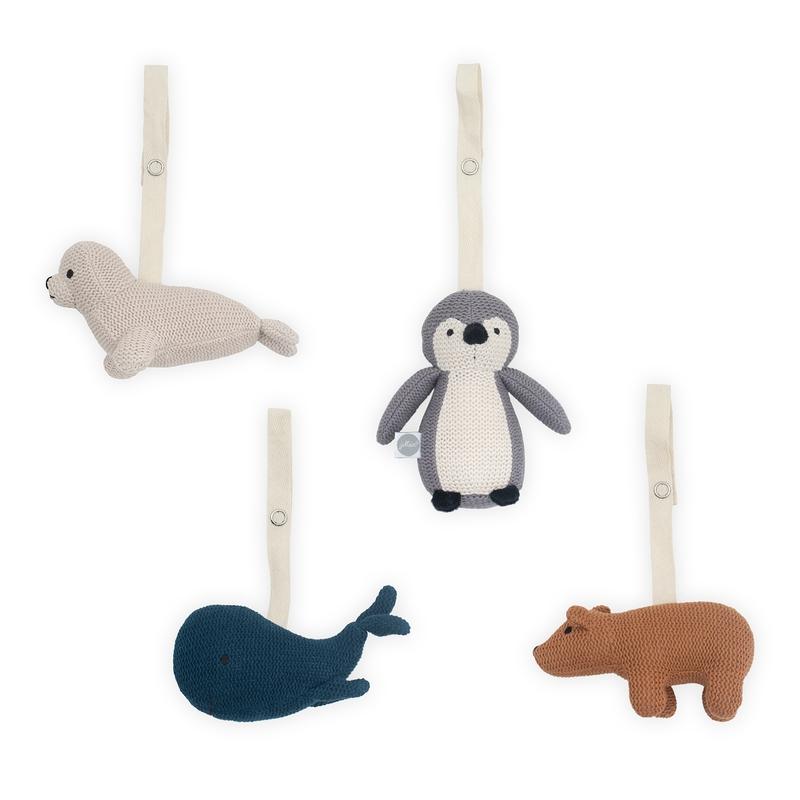 Spielbogen-Anhänger 'Polartiere' aus Strick