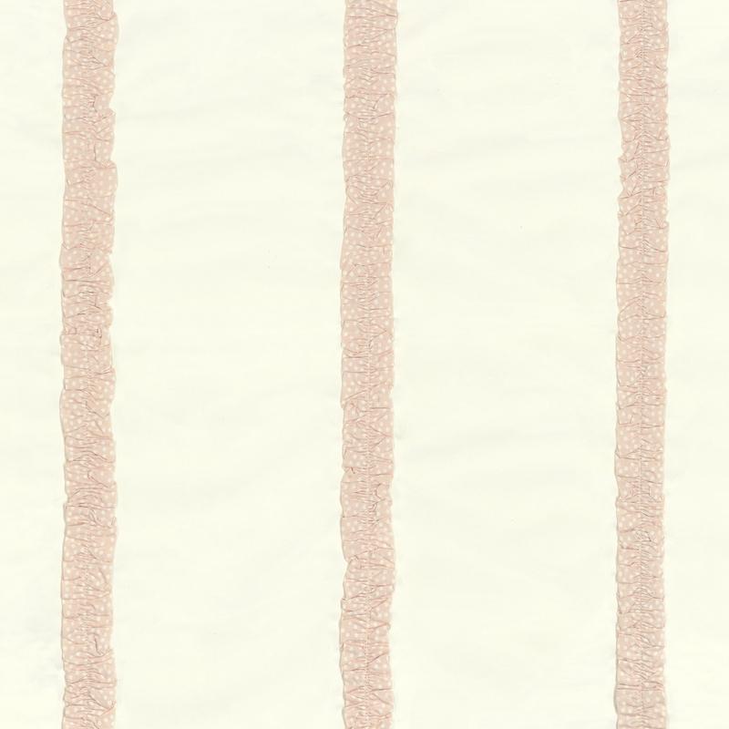 Stoff mit Rüschen 'Rose & Nino' creme/rosa