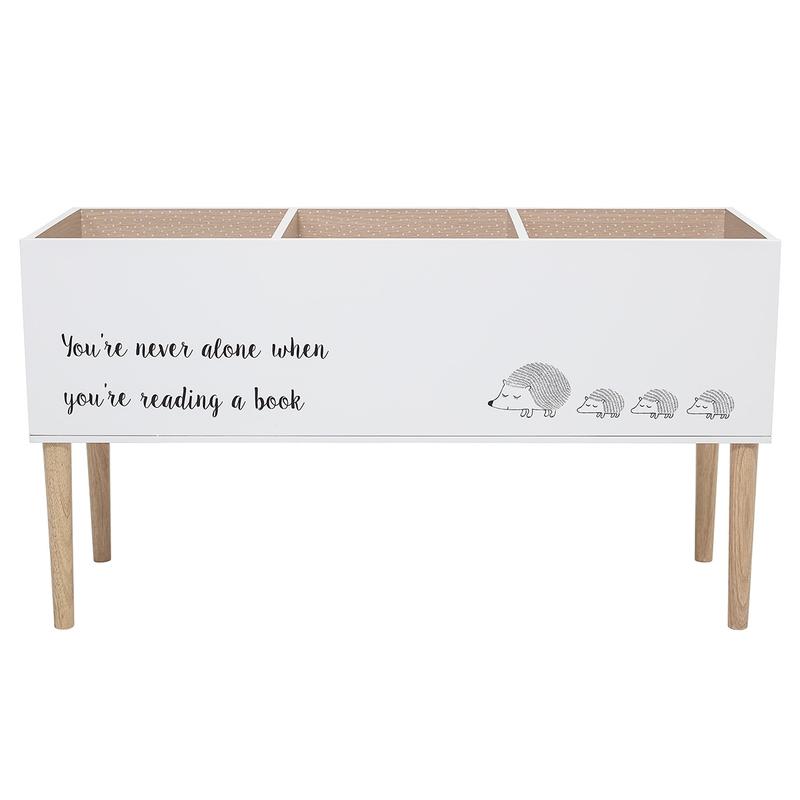 Bücherregal 'Igel' Holz weiß/natur 90cm