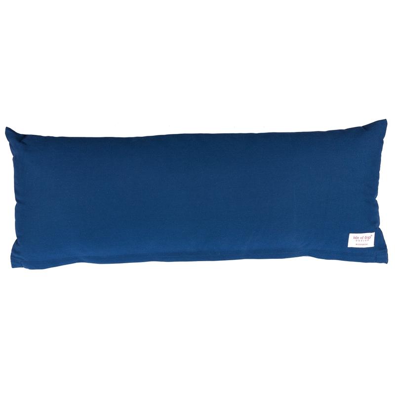 Kissen Canvas dunkelblau ca. 90x33cm