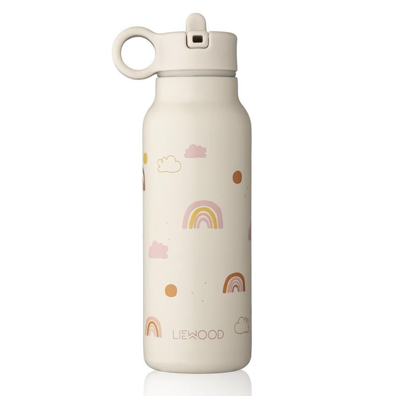 Trinkflasche 'Regenbogen' Edelstahl rosa 350ml