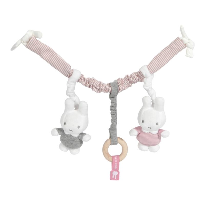 Spielkette Miffy Hase 'Cord' altrosa/weiß