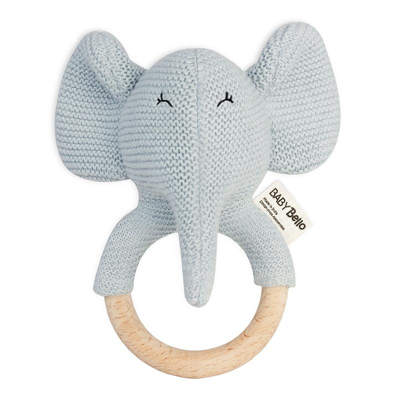 Bio Rassel/Greifling 'Elefant Elvy' hellblau