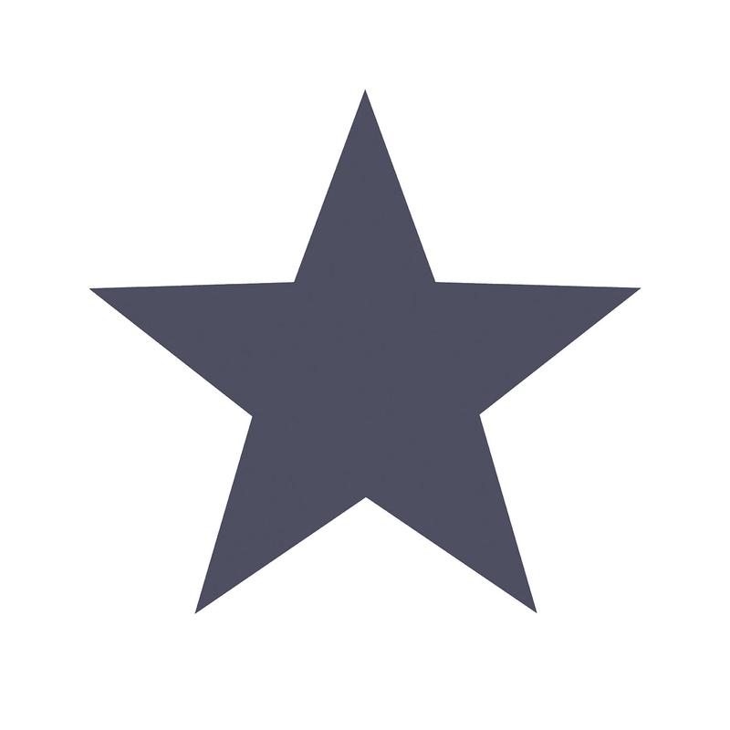 Vliestapete 'Maxi Sterne' weiß/dunkelblau