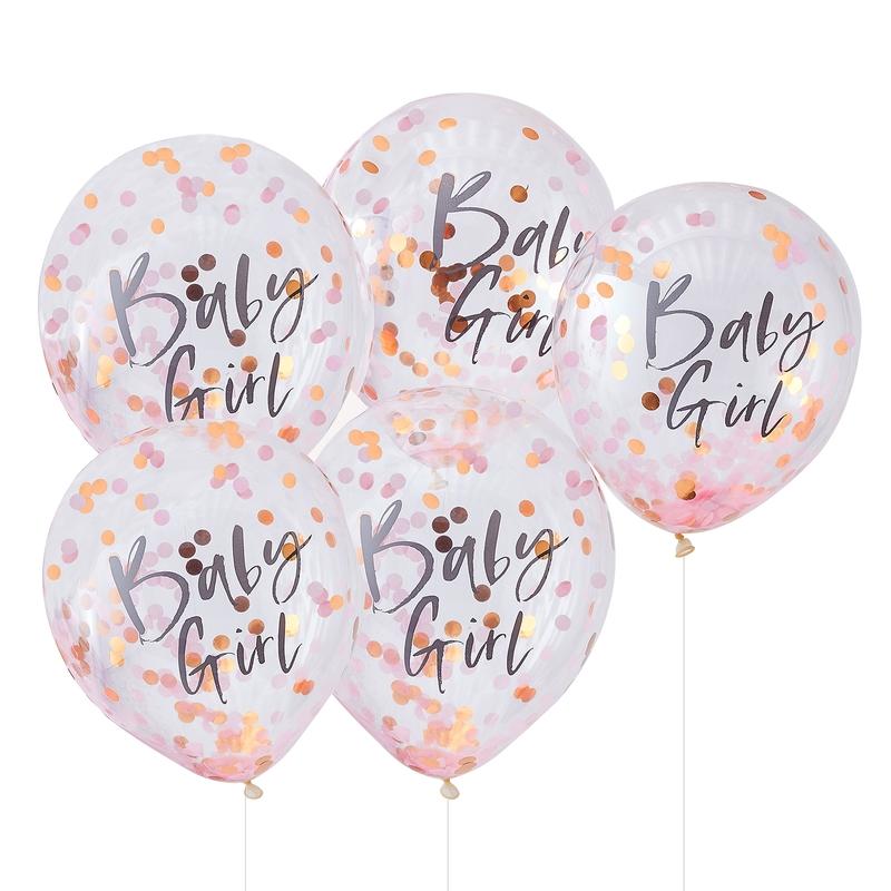 Konfetti-Ballons 'Twinkle' roségold/rosa