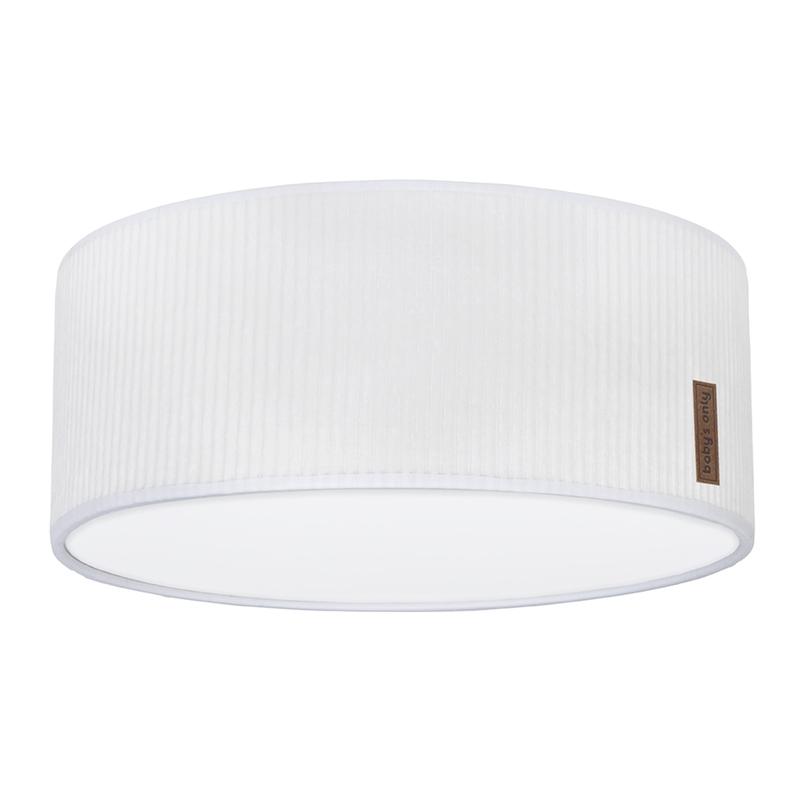 Deckenlampe 'Sense' Samt weiß 35cm