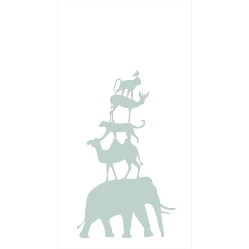 Fototapete 'Tiere' weiß/mint 150x279cm