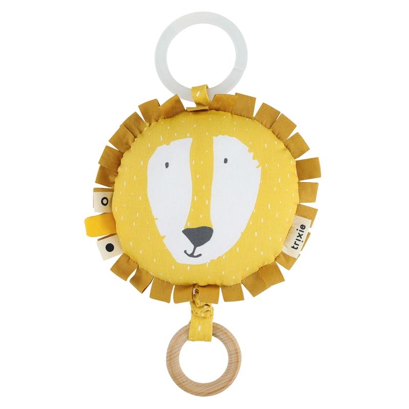 Spieluhr mit Spiegel 'Löwe' gelb ca. 14cm