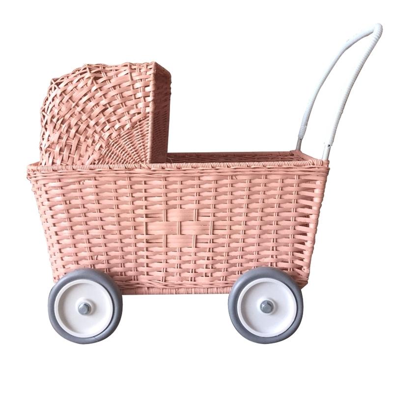 Korb Puppenwagen rosa ab 18 Monaten
