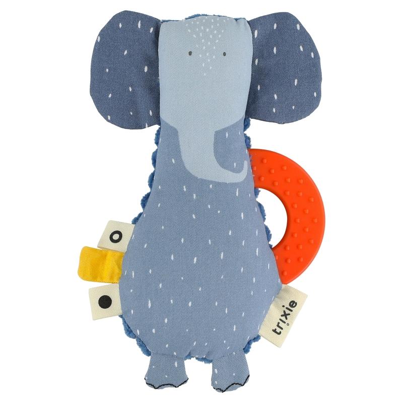 Greifling 'Elefant' Baumwolle blau 16cm