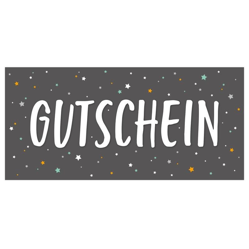 Gutschein 'Sterne' dunkelgrau ab 10€ (Versand per Post)