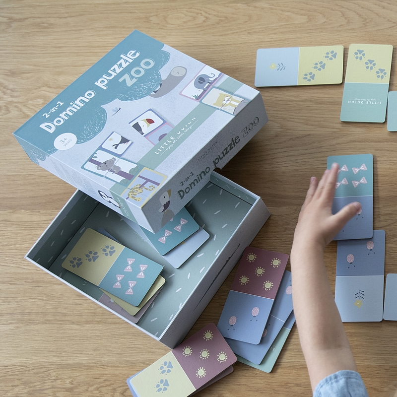 Dominospiel 'Zootiere' pastell ab 3 Jahren